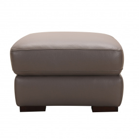 Elena Espresso Leather Footstool