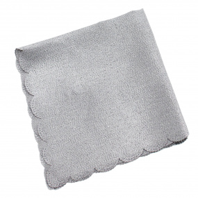 Set of 4 Silver Glimmer Napkins