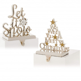 Assorted Silver Christmas Stocking Holder | Housing Units