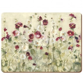 Premium Wild Field Poppies Set of 6 Placemats