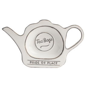 Pride of Place White Teabag Tidy
