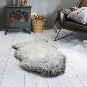 Charcoal Copenhagen Faux Fur Sheepskin Rug 60cm x 90cm | Housing Units