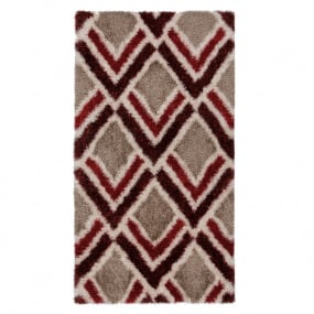 Velvet Bijoux Red & Brown 160cm x 230cm Rug