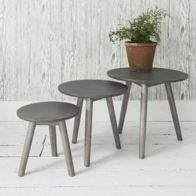 Burton Ash Grey Nest of Tables