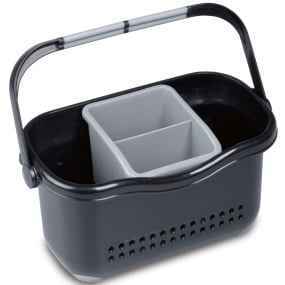 Addis Soft Touch Black and Grey Sink Caddy