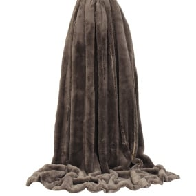 Riva Paoletti Empress Faux Fur Throw Taupe