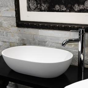 Waters Baths of Ashbourne Cloud Stone Freestanding Basin
