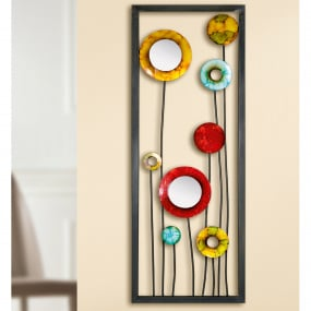 Colourful Circle Metal Wall Art