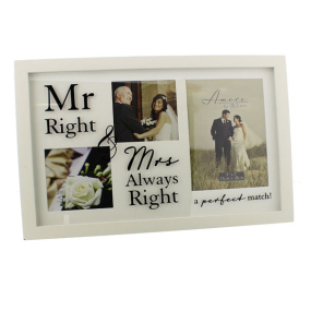 Amore Mr and Mrs Right Collage Frame