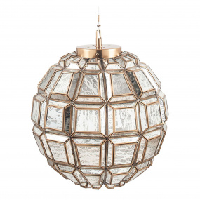 Antique Brass Silver Glass Ceiling Light | Housing Units