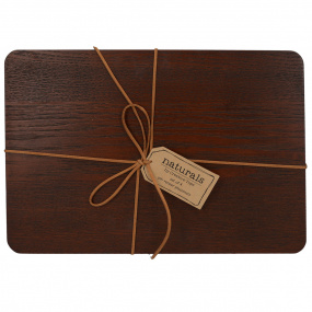 Naturals Brown Wood Set of 4 Placemats