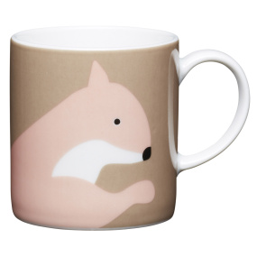Squirrel Porcelain Expresso Cup