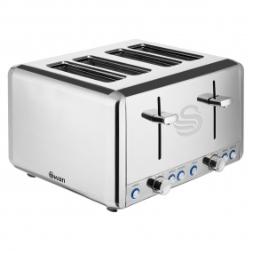 Swan Stainless Steel 4 Slice Toaster