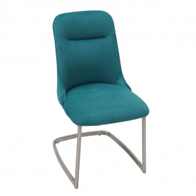 Salvador Petrol Blue Fabric Cantilever Dining Chair