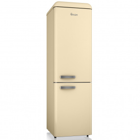 Swan Retro Cream Slimline Fridge Freezer