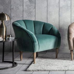 Flanders Mint Velvet Accent Chair