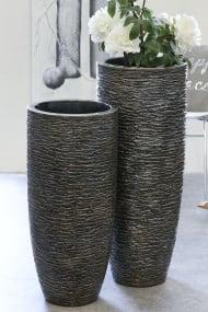 Medium Metal Tall Tub Vase