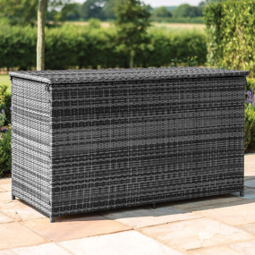 Maze Rattan Lagos Grey Rattan Garden Storage Box - Lifestyle | Housing Units