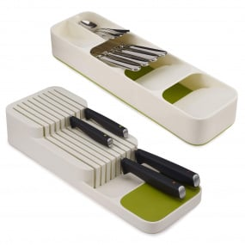 Joseph Joseph DrawerStore White Cutlery & Knife Organiser Set | Housing Units