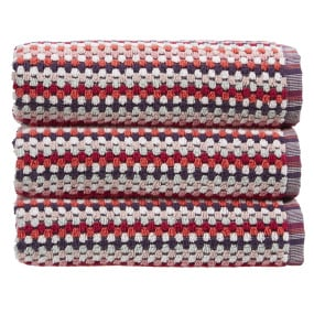 Christy Carnaby Stripe Berry Hand Towel
