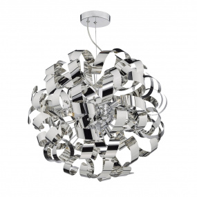 Rawley 9 Light Polished Chrome Pendant Light