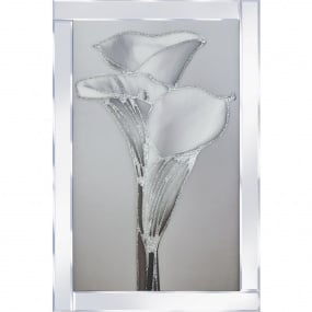 Lily with Mirrored Frame