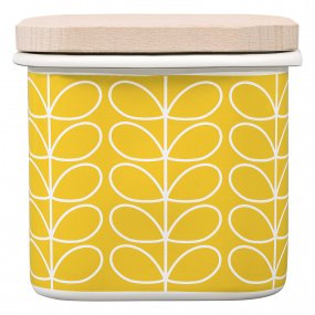 Orla Kiely Linear Stem Dandelion Yellow Enamel Storage Pot