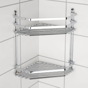 Euroshowers Satina Double Corner Rack