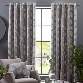 "Belfield Gingko Steeple Grey 66"" x 72"" Curtains"
