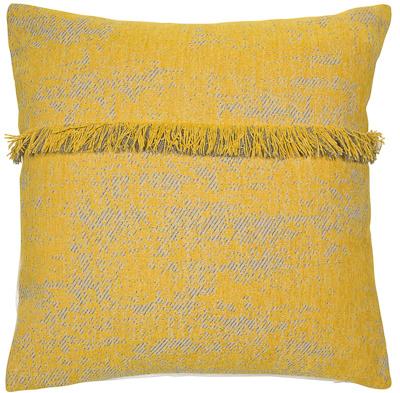 Malini Fringed Mustard Cushion