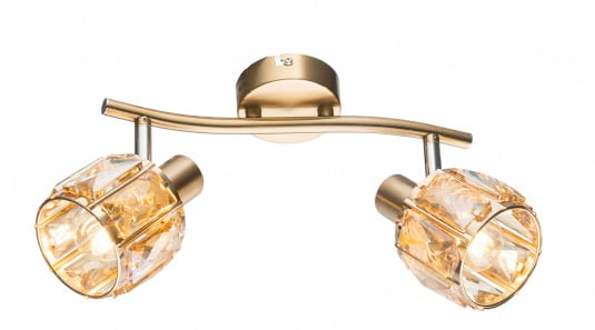 Kris Twin Crystal Wall Light in Rose Gold