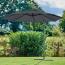 Supremo Riviera 300cm Crank & Tilt Free Arm Grey Garden Parasol