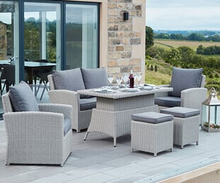Benches, corners, loungers or dining chair sets, we have a wide range of garden seating